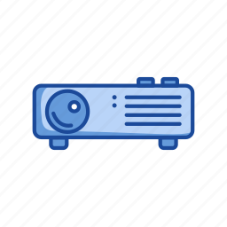 conference, digital projector, image projector, video icon
