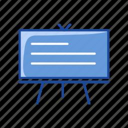 board, chalk board, screen, stand icon