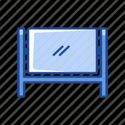 blackboard, projector, screen, white board icon