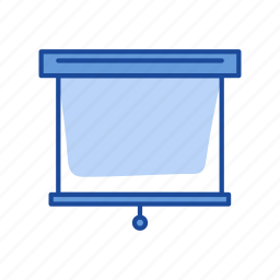 board, projector, roll up projector, screen icon