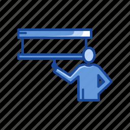 board, lecture, presentation, projector icon