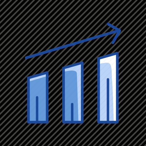 Report, graph, chart, bar graph icon