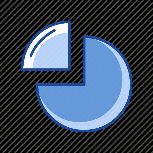 circle graph, graph, pie chart, statistic icon