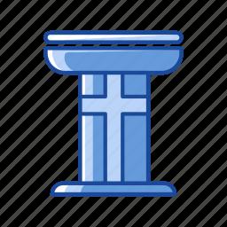 church, platform, pulpit, stand icon