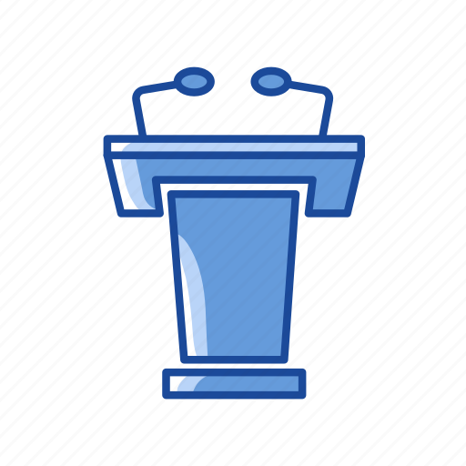 platform, podium, pulpit, speech icon