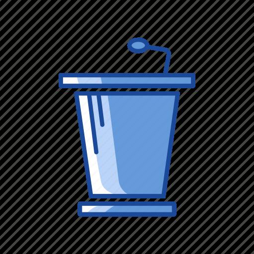 conference, platform, podium, speech icon