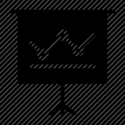 canvas, chart, keynote, line, powerpoint, presentation, speech icon