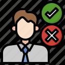 decision, making, stick, man, businessman, manager