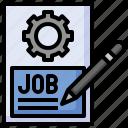 job, portfolio, pen, resume, application