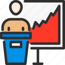business, finance, growth, man, presentation, presenter, stats