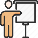 business, conference, desk, man, presentation, presenter, speech icon