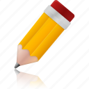 edit, education, learning, pencil, school, study, write icon