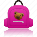 bag, education, learning, school bag, schoolbag, study icon