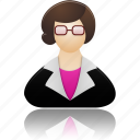 education, female, lady, people, school, study, teacher, woman icon