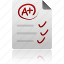 document, file, mark, paper, records, test icon