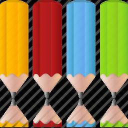 color, colorpencils, design, edit, paint, palette, pencil, pencils icon