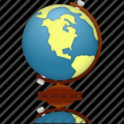 earth, education, geography, globe, internet, planet, school, study, world icon