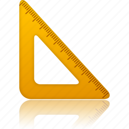 education, learning, math, ruler, school, study, tool, tools, training, triangle icon