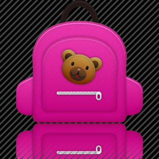 bag, education, learning, school bag, schoolbag, study icon