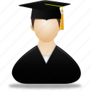 account, education, graduate, human, male, man, men, people, profile, school, student, user, users icon