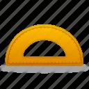 semicircleruler, settings, ruler, study, school, tools, tool, measure