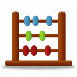 abacus, calculate, calculator, education, learning, math, school, study, training icon