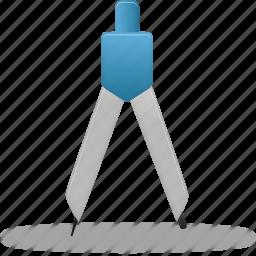 compasses, tool, tools icon