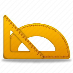 measure, ruler, rulers, tool, tools, triangle icon