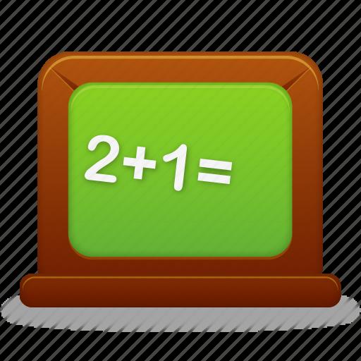 blackboard, calculate, calculator, education, learning, math, school, student, study, teach, teaching, training icon
