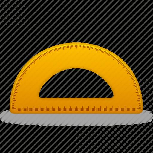 measure, ruler, school, semicircleruler, settings, study, tool, tools icon