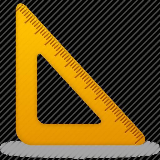 measure, ruler, rulers, tool, tools, triangle icon