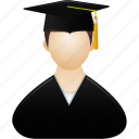 account, education, graduate, human, learning, male, man, people, profile, school, study, training, user, users icon