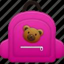 bag, education, learning, school bag, schoolbag, student, study, training icon