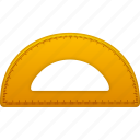 education, math, ruler, school, semicircleruler, study, tool, tools icon