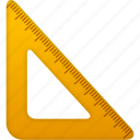 education, math, measure, ruler, school, study, tool, tools, triangle icon