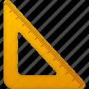 education, math, measure, ruler, school, study, tool, tools, triangle icon