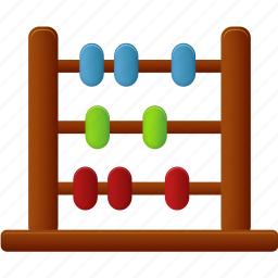 abacus, calculate, calculator, education, learning, math, school, student, study, training icon