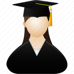 account, education, female, girl, graduate, lady, learning, people, profile, school, training, user, users, woman icon
