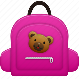 bag, education, learning, school bag, schoolbag, student, study, training icon