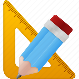 education, learning, math, pencil, ruler, rulers, school, study, tool, tools, training icon