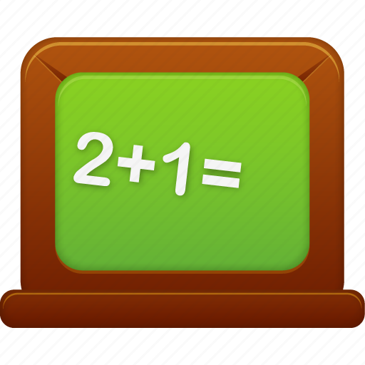 blackboard, calculate, calculator, education, learning, math, school, student, study, teach, training icon