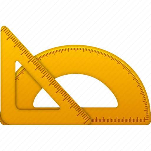 education, learning, math, measure, ruler, rulers, school, settings, tool, tools, training, triangle icon