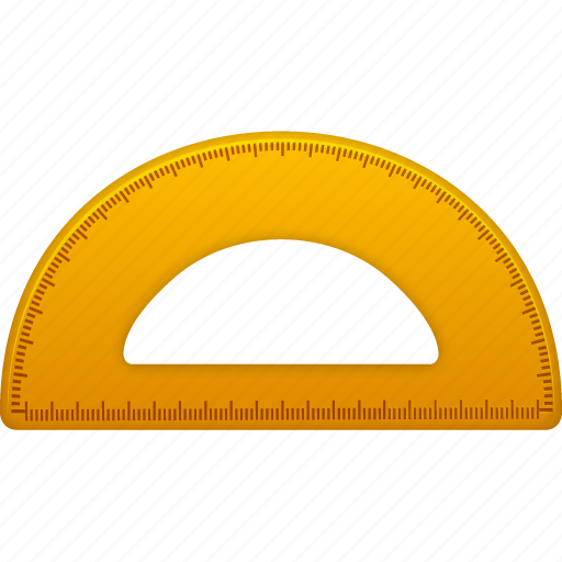 education math ruler school semicircleruler study tool tools icon