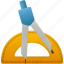 compasses, education, learning, math, options, ruler, school, study, tool, tools, training icon