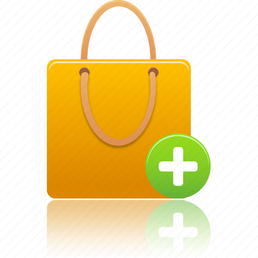 add, bag, business, buy, cart, item, money, new, plus, shopping, shoppingbag icon