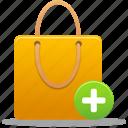 bag, shopping, buy, ecommerce, webshop, business, shoppingbag, cart, item, add, plus