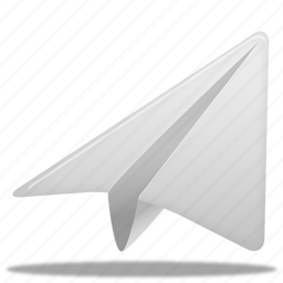 paper, plane icon