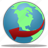 browser, communication, connection, earth, globe, internet, network, planet, service, web, world icon
