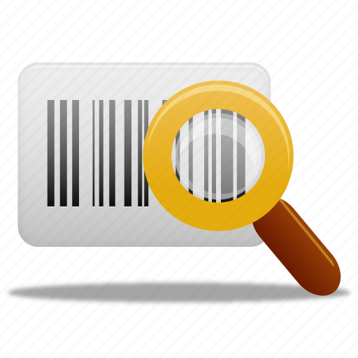 barcode, find, magnifying glass, search, view, zoom icon