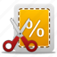 business, buy, cash, coupon, cut, ecommerce, finance, money, online, price, sale, scissor, scissors, shopping, tag, trade icon